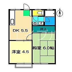松岡ハイツI[1階]の間取り