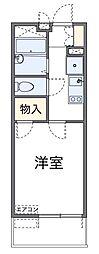 神奈川県川崎市多摩区西生田1丁目の賃貸マンションの間取り