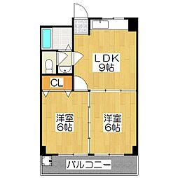 エスカローナ玉田II[3階]の間取り