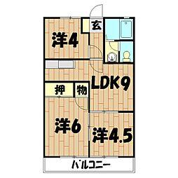 フローラKIKU B[306号室]の間取り