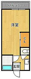永伸文化住宅[2F・D号室号室]の間取り