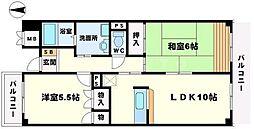 サン春日第3マンション[2階]の間取り