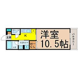 HIBINO RISE[2階]の間取り