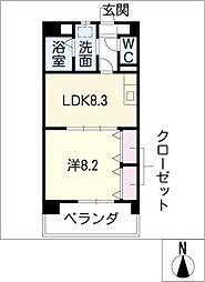 メゾンドグロリア[4階]の間取り
