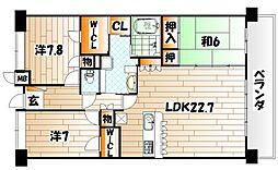 ポレスターブロードシティ大手門[11階]の間取り