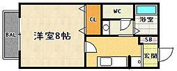 フルーレ仰木[101号室]の間取り