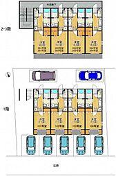 JR呉線 天神川駅 徒歩6分の賃貸アパート 1階1Kの間取り