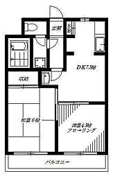 東京都中野区本町5丁目の賃貸マンションの間取り