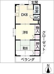 メゾンオオワキ[2階]の間取り