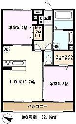 埼玉県戸田市笹目4丁目の賃貸アパートの間取り