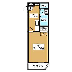 グランデージチバ[1階]の間取り