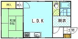 レジデンスハマナスII[L号室]の間取り