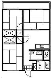 水野マンション[303号室]の間取り