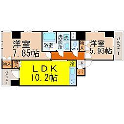 G next nagono(ジーネクストナゴノ)[7階]の間取り