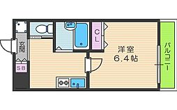シエテ矢田 2階1Kの間取り