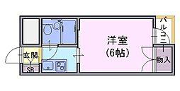 ヤングビレッジキリシマ[202号室]の間取り