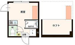 """(仮称)千住東1丁目A""""Neo""""AVAND(ネオアヴァンド) 2階ワンルームの間取り"""