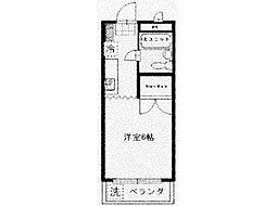 東京都青梅市新町3丁目の賃貸マンションの間取り