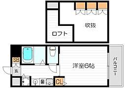 エステムコート梅田東アクアパレス[3階]の間取り