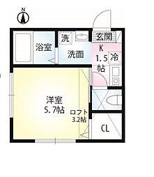 セレーノ田浦II[204号室]の間取り