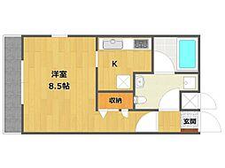 兵庫県伊丹市伊丹5丁目の賃貸アパートの間取り