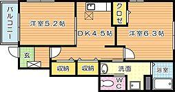 メゾン木屋瀬 C棟[1階]の間取り