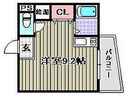 WIN長滝駅前[102号室]の間取り