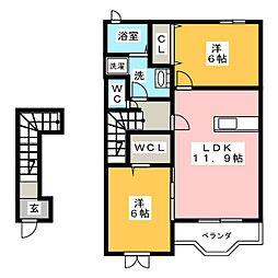 イースト・アヴェニュー[2階]の間取り