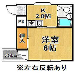 三泉ハイツ[3階]の間取り