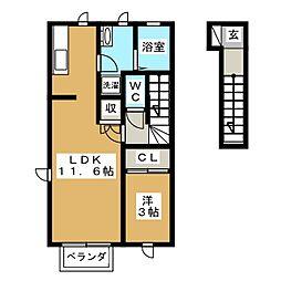仮)DM東中田1[2階]の間取り