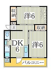 豊四季マンション[3階]の間取り