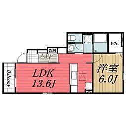 京成本線 京成成田駅 バス18分 七栄三叉路下車 徒歩2分の賃貸アパート 1階1LDKの間取り