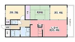 アンジュ東甲子園[8階]の間取り