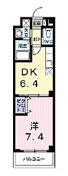 エコー ウエスト[3階]の間取り