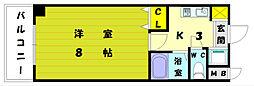 YSKパークハウス[4階]の間取り