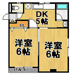 田村ハイツ[2階]の間取り