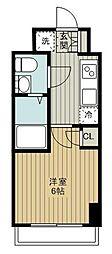 東急東横線 妙蓮寺駅 徒歩11分の賃貸マンション 3階1Kの間取り