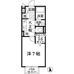 パークサイド渋川[A102号室]の間取り