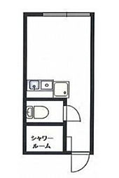 レジデンスパーク川崎[105号室]の間取り