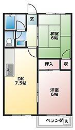 弥生ハイツ[3階]の間取り