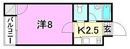 F愛光マンション[410 号室号室]の間取り