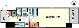 エスリード大阪心斎橋 12階1Kの間取り
