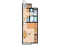 レオパレス神田[1階]の間取り