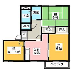 グリーンハウス C棟[1階]の間取り