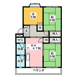 スターハイツ長田[2階]の間取り
