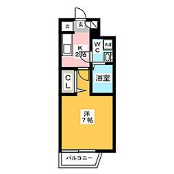 パンルネックスクリスタル博多駅南II[3階]の間取り