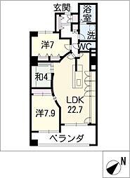 リモージュ徳川[1階]の間取り