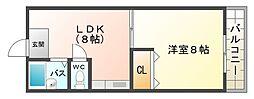大阪府大阪市平野区喜連西2丁目の賃貸マンションの間取り
