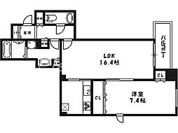 OAPレジデンスタワー西館[2階]の間取り