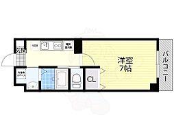 阪急京都本線 正雀駅 徒歩3分の賃貸マンション 5階1Kの間取り